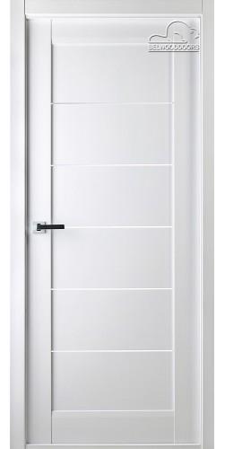 Межкомнатная дверь шпонированная со стеклом Мирела белый