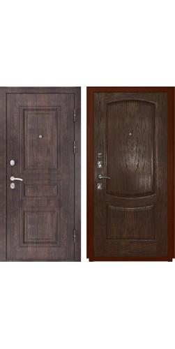 Входная дверь Luxor-6 тиковое дерево