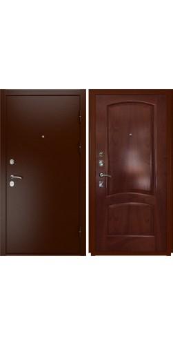 Входная дверь Luxor-3a лаура красное дерево