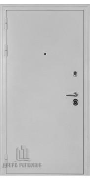 Входная дверь Колизей антик белое серебро