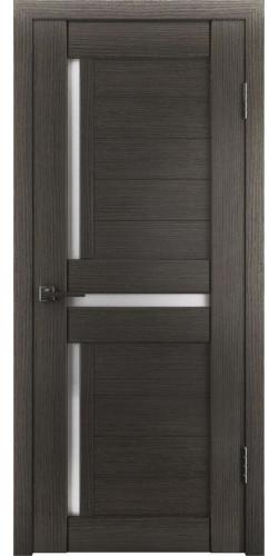 Дверь межкомнатная экошпон со стеклом Атум 16х грей