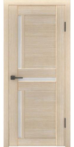 Межкомнатная дверь экошпон со стеклом Атум 16х капучино