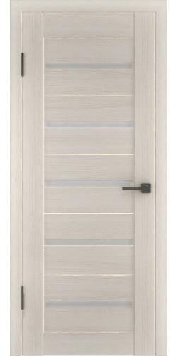 Дверь межкомнатная экошпон со стеклом Атум 7х белёный дуб