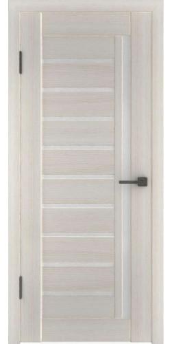 Межкомнатная дверь экошпон со стеклом Атум 11х белёный дуб