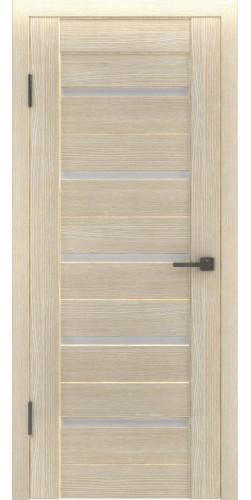 Дверь межкомнатная экошпон со стеклом Атум 7х капучино