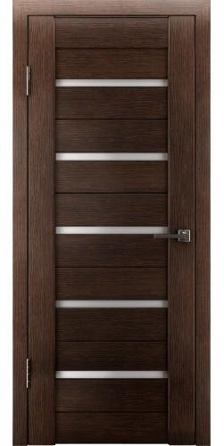 Межкомнатная дверь экошпон со стеклом Атум 7х венге