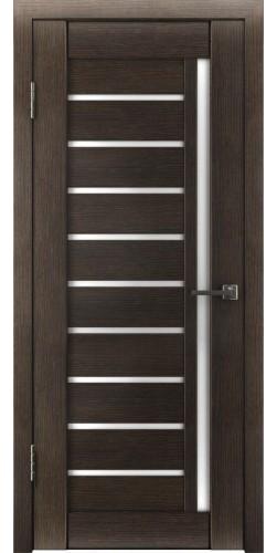 Межкомнатная дверь экошпон со стеклом Атум 11х венге