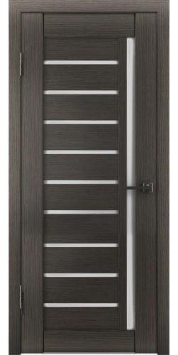 Межкомнатная дверь экошпон со стеклом Атум 11х грей