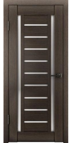 Межкомнатная дверь экошпон со стеклом Атум 13х грей