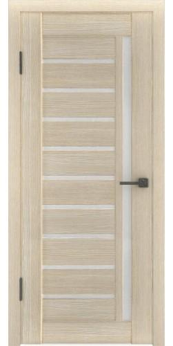 Межкомнатная дверь экошпон со стеклом Атум 11х капучино