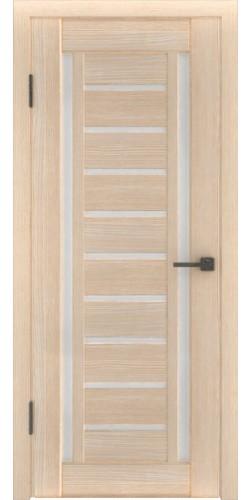 Межкомнатная дверь экошпон со стеклом Атум 13х капучино