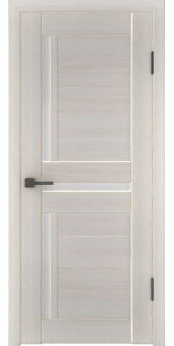 Дверь межкомнатная экошпон со стеклом Атум 16х белёный дуб