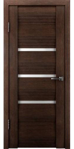 Межкомнатная дверь экошпон со стеклом Атум 31х венге